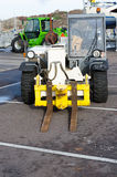 Two forklift standing in the harbour Stock Photography