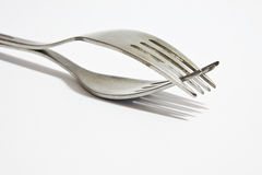 Two forks Stock Photography