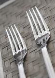 Two forks Stock Images
