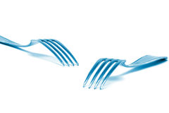 Two forks Royalty Free Stock Images