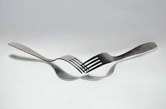 Two forks Stock Photos