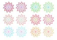 Two Forms Abstract Floral Colorful Set. Two Forms Abstract Floral Colorful vector illustration