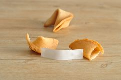 Two fortune cookies Stock Photography