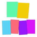 Two And Four Blank Paper Slips Show Copyspace For 2 Or 4 Letter Royalty Free Stock Photography