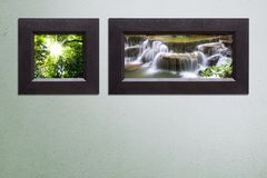 Two frame on Concrete wall I Royalty Free Stock Images