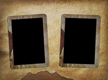 Two frames for old photo Stock Photos