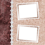 Two frames for photos Royalty Free Stock Images