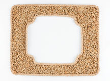 Two frames of the rope with rye grain on a white background Stock Photos