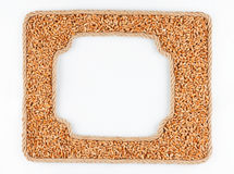 Two frames of the rope with wheat  grain on a white background Royalty Free Stock Images