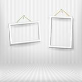 Two frames in striped room Stock Image
