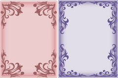 Two Frames With Swirls Royalty Free Stock Photos