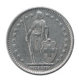 Two francs coin Stock Image