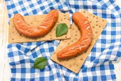 Two frankfurters Stock Photography