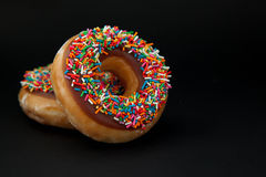 Two freash donuts stock photography