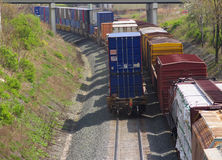 Two freight trains Stock Images