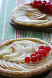 Two french apple tart Stock Photography