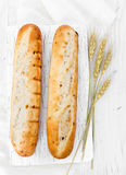 Two french baguettes Stock Photo