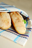 Two french bread Stock Image