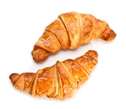 Two French croissants Stock Photo