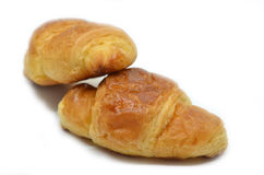 Two French croissants Royalty Free Stock Image
