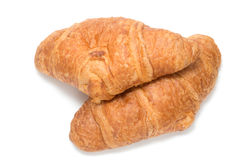 Two French croissants Stock Photos