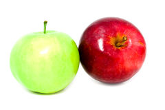 Two fresh apples Royalty Free Stock Photos