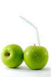Two fresh apples Royalty Free Stock Photography