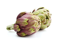 Two fresh artichokes Stock Photography