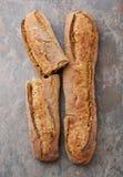 Two fresh artizan baguette Royalty Free Stock Photography