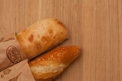 French loaf and Italian ciabatta royalty free stock photo