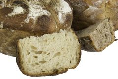 Fresh baked loafs of sour dough bread Royalty Free Stock Photography