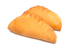 Two fresh baked pastys Royalty Free Stock Photography