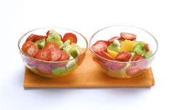 Two fresh bowls. Stock Photography