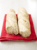 Two fresh bread baguettes Royalty Free Stock Images
