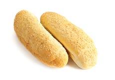 Two fresh breads Stock Photos
