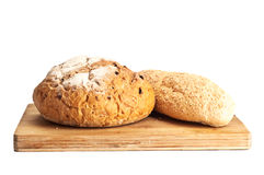 Two fresh breads Stock Photo