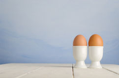Egg Breakfast for Two Royalty Free Stock Photography