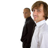 Two fresh businessman stock images