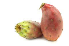 Two fresh colorful cactus fruits Stock Photography