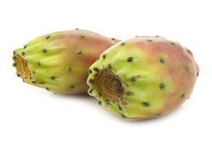 Two fresh colorful cactus fruits Royalty Free Stock Image
