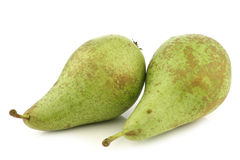 Two fresh conference pears Stock Photo