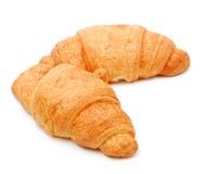Two fresh croissant Stock Photos
