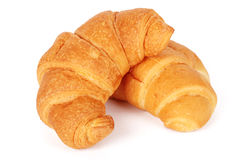 Two fresh croissants Royalty Free Stock Image
