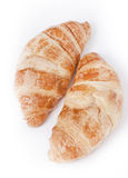 Two fresh croissants Stock Photo