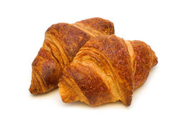 Two fresh croissants Royalty Free Stock Photography