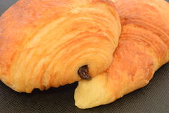 Two fresh croissants. Stock Image