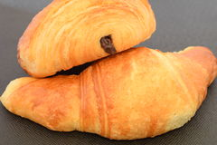 Two fresh croissants. Stock Photo