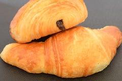 Two fresh croissants. Stock Photo