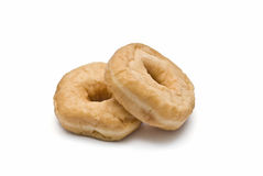 Two fresh donuts. Royalty Free Stock Image