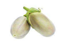 Two fresh eggplants Stock Photography